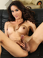 Tina is a cock tease. Hot Tina shows her huge dick